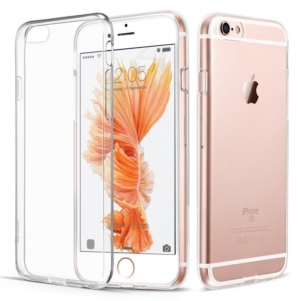 Sintron iPhone 6/6S Plus Clear Case - Ultra Thin Crystal Fully Transparent, Shock Absorption, Flexible Durable, Scratch and Smudge Resistant, TPU Environmental Protection Material, for iPhone 6/6S Plus, 24-Hour Customer Support, 30-Day Money Back - Sintron