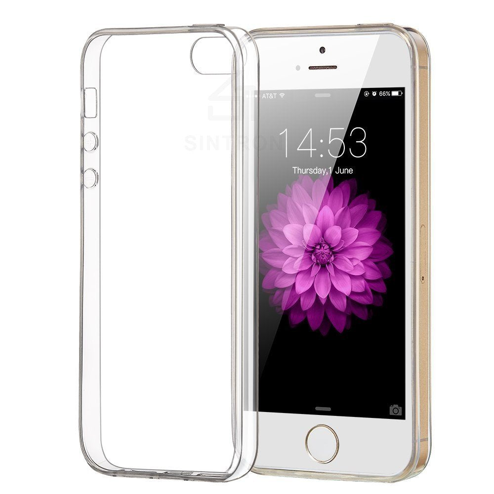 Sintron iPhone 5/5S/SE Clear Case - Ultra Thin Crystal Fully Transparent, Shock Absorption, Flexible Durable, Scratch and Smudge Resistant, TPU Environmental Protection Material, for iPhone 5/5S/SE, 24-Hour Customer Support, 30-Day Money Back Guaranteed - Sintron