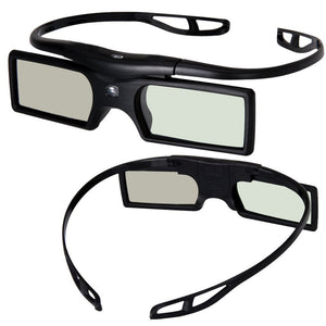 [Sintron] 2X 3D Active DLP-link Glasses Eyewear - support All main Brand (except Epson) 3D-Ready DLP Projectors including Optoma, BenQ, Acer, Dell, Viewsonic, Vivitek, Sharp, LG, NEC, Mitsubishi 3D Projectors, Black, 27g only - Sintron