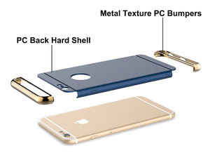 "iPhone 6S Case 3 In 1 Ultra Thin and Slim Hard Case Coated Non Slip Matte Surface with Electroplate Frame for Apple iPhone 6 (4.7"") and iPhone 6S (4.7"") - Sintron"