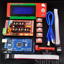 [Sintron] 3D Printer Electronics Full Kit, RAMPS 1.4 + Mega 2560 + MK3 Heatbed Heat bed + LCD2004 + Stepper Motor + MK8 Extruder + A4988 Stepper Motor Driver + Endstop for DIY RepRap Prusa i3 Kossel - Sintron