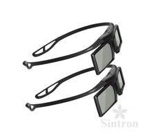 Sintron 2X Universal 3D RF Active Shutter Glasses Bluetooth for 2015 ~ 2018 Sony 3D TV & 3D Projector, Compatible with TDG-BT500A TDG-BT400A (2 Pairs), Black, 27g - Sintron