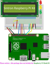 [Sintron] New 40-Pin GPIO Extension Board Starter Kit with 1602 LCD Display + Switch + DS18B20 Temperature Sensor Module + IR Remote Sensor Module + Breadboard for Raspberry Pi 1 Models A+ and B+, Pi 2 Model B, Pi 3 Model B,Pi 4 Model B and Pi Zero - Sintron