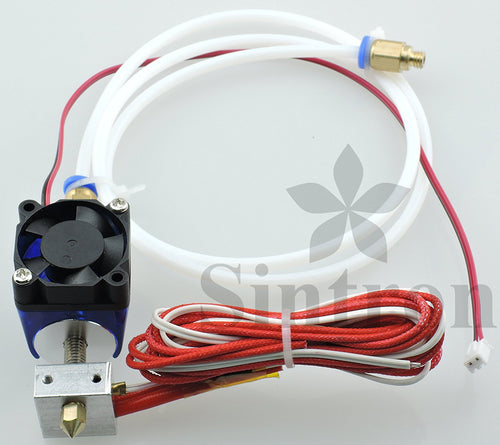 [Sintron] 3D Priner All Metal J-Head V6 Bowden Hot End 0.4mm Nozzle with Cooling Fan for RepRap 3D Printer MakerBot, Rostock, Kossel, and Prusa i3 1.75mm Filament Direct Feed Extruder 12V - Sintron