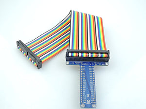 [Sintron] 40-Pin GPIO Extension Board Starter Kit + Micro Servo SG90 Sidekick LED Thermistor Temperature Sensor Breadboard for Raspberry Pi 1 Models A+ & B+, Pi 2 & 3 & 4 Model B and Pi Zero - Sintron