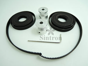 [Sintron] 2M Timing Belt Set + 2 pcs GT2 20 Tooth 5mm Bore Pulleys for RepRap 3D Printer Prusa Mendel i3 Kossel Delta ect...