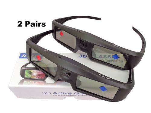 Sintron 2X ST07-BT Rechargeable 3D Glasses for RF/Bluetooth 3D TV Compatible with TDG-BT500A TDG-BT400A TY-ER3D5MA & 99% Sony Panasonic Samsung TV - Sintron