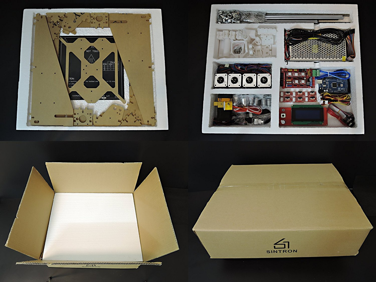 Sintron Ultimate 3d Printer Full Complete Kit For Diy Reprap Prusa Connections Of Ramps 1 4 I3