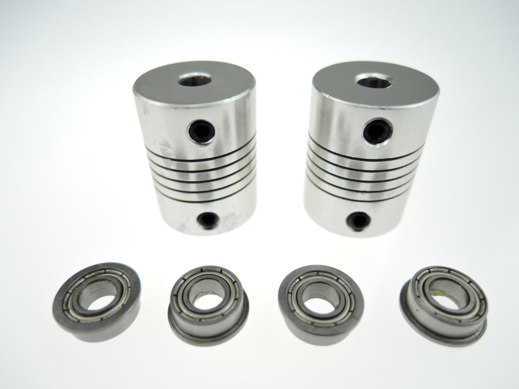 [Sintron]4 x MF105ZZ Bearing 2 x CNC Motor Shaft Coupler Coupling for 3D Printer Prusa i3 - Sintron