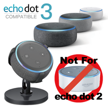Sintron ST-E3-360 Table Holder for Echo Dot 3rd Generation, 360° Adjustable Stand Bracket Mount, Space Saving Accessories, Without Messy Wires, No Muffled Sound Outlet Hanger for Smart Home Speaker