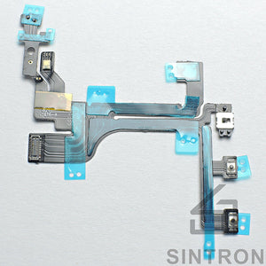 Sintron iPhone 5/5C/5S/6/6Plus/6S/6SPlus Switch Power Button - Replacement Repair Part for iPhone Switch Power Button On / Off Switch Flash Light Mic Flex Cable with Brackets Pre-installed Part