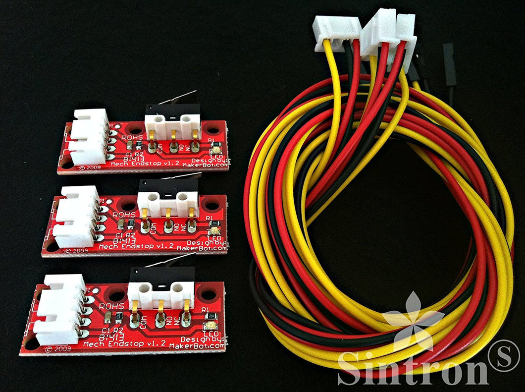 [Sintron] 3 pcs Mechanical Endstop Module V1.2 for 3D Printer RepRap Prusa i3 Kossel Delta etc.. (Endstops*3) - Sintron