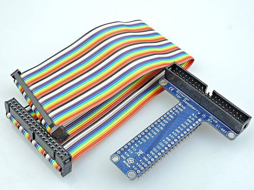 [Sintron] 40 Pin GPIO Extension Board with 40 Pin Rainbow Color Ribbon Cable for Raspberry Pi 1 Models A+ and B+, Pi 2 Model B, Pi 3 Model B and Pi Zero - Sintron