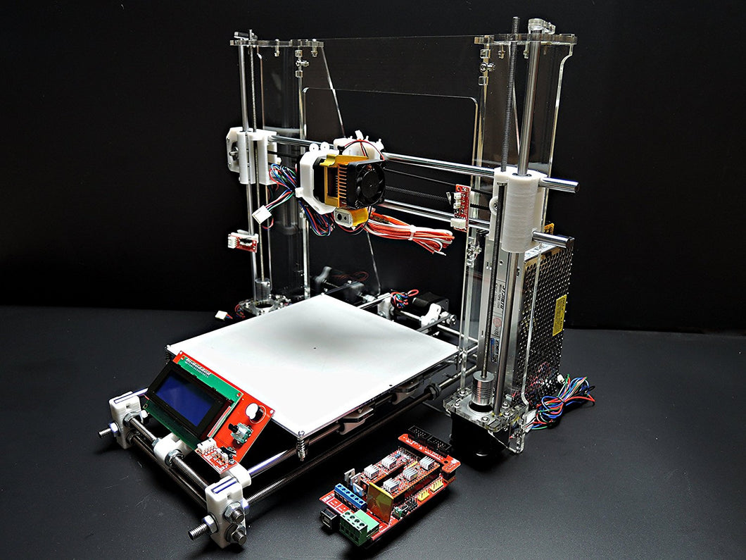 [Sintron] Ultimate 3D Printer Full Complete Kit for DIY Reprap Prusa i3 + RAMPS 1.4, Mega 2560, MK8 Extruder, MK3 Heatbed, Stepper Motor and LCD Controller - Sintron