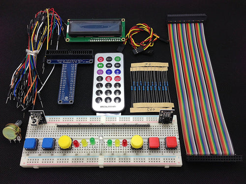 [Sintron] New 40-Pin GPIO Extension Board Starter Kit with 1602 LCD Display + Switch + DS18B20 Temperature Sensor Module + IR Remote Sensor Module + Breadboard for Raspberry Pi 1 Models A+ and B+, Pi 2 Model B, Pi 3 Model B and Pi Zero - Sintron