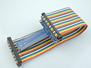 [Sintron] 40 Pin GPIO Extension Board with 40 Pin Rainbow Color Ribbon Cable for Raspberry Pi 1 Models A+ and B+, Pi 2 Model B, Pi 3 Model B and Pi Zero