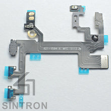 Sintron iPhone 5/5C/5S/6/6Plus/6S/6SPlus Switch Power Button - Replacement Repair Part for iPhone Switch Power Button On / Off Switch Flash Light Mic Flex Cable with Brackets Pre-installed Part - Sintron