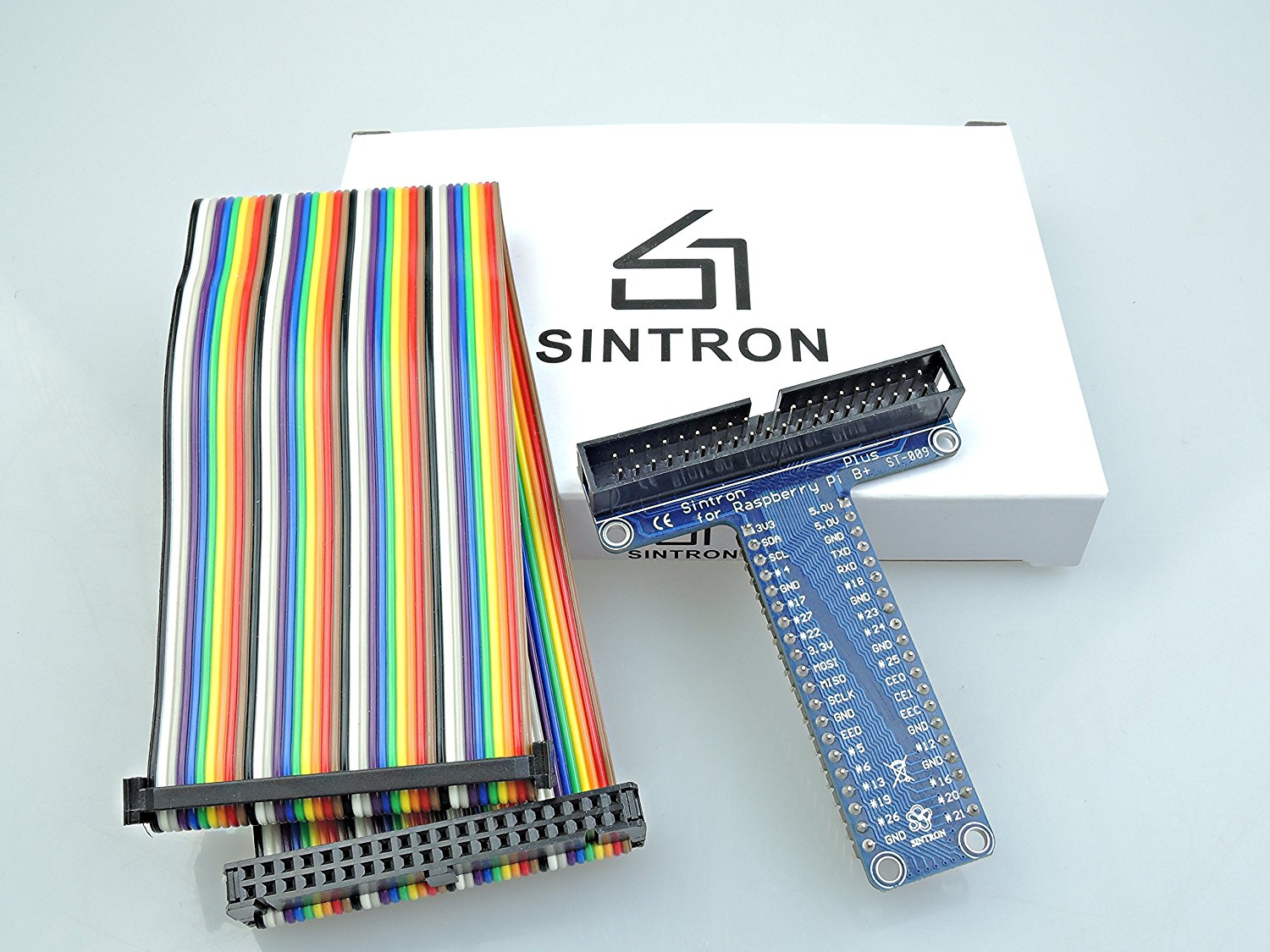 Sintron 40 Pin Gpio Extension Board With Rainbow Color Ribbon Cable Schematic For