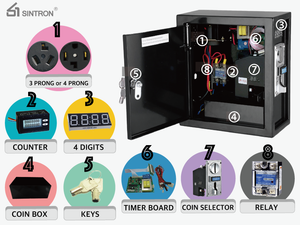 [Sintron] ST-002 Coin operated Timer box to Control 110V~240V 15A (current rating) electronic device ( washing machine ,Gas dryer ,arcade game etc...)