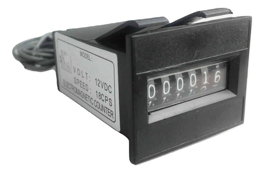 Sintron 12V 6 Digits Mechanical Arcade Coin Counter Meter For Coin Selector Operated Vending Machines - Sintron