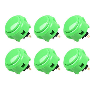 Sanwa 6 pcs OBSF-3 (Green) OEM Arcade Push Button (Mad Catz SF4 Tournament Joystick Compatible) - Sintron