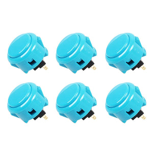 Sanwa 6 pcs OBSF-3 (Blue) OEM Arcade Push Button (Mad Catz SF4 Tournament Joystick Compatible) - Sintron