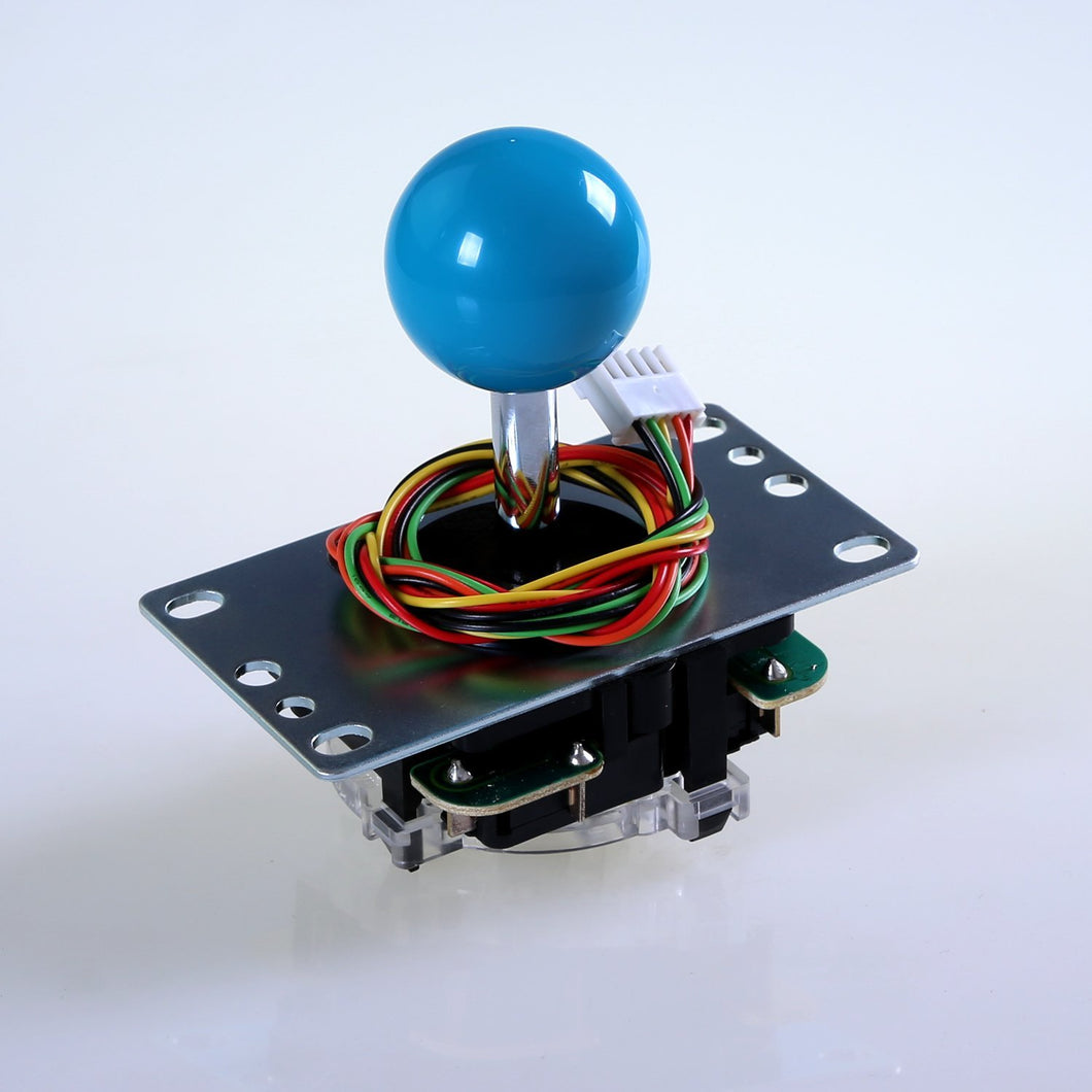 SANWA JLF-TP-8YT  Blue Ball Top Handle Arcade Joystick 4 & 8 Way Adjustable, Hori Fight Stick Repair Part (Mad Catz SF4 Tournament Joystick Compatible)