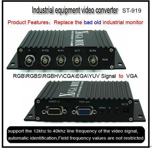 Sintron ST-919 for Industrial device (CNC SMT etc.) Monitor Replacement , MDA RGB CGA EGA to VGA Industrial Converter