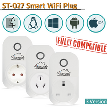 Sintron ST-027 Smart Plug Socket - Works with Alexa Google Home Google Assistant , no Hub required , Energy Saving A+++, compatible with Smart Phone/PC/Mac/Linux/Windows/iOS/Android - Sintron