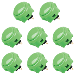 Sanwa 8 pcs OBSF-30(Green) OEM Arcade Push Button (Mad Catz SF4 Tournament Joystick Compatible) - Sintron