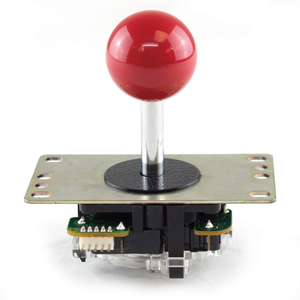 Original SANWA JLF-TP-8YT-SK with Harness Ball Top Handle Arcade Joystick 4 & 8 Way Adjustable, Red Dark Blue Green Yellow White Purple Grey - Sintron