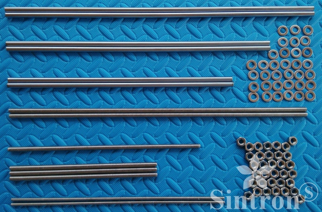 [Sintron]3D printer Smooth & Threaded Rods + Nuts Kit shaft frame for Reprap Prusa i3 - Sintron