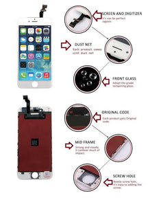 [Sintron] iPhone 5/5C/5S/6/6 Plus/6S/6S Plus/7/7 Plus/8/8 Plus White Replacement LCD & Touch Screen Digitizer .Works like Original !