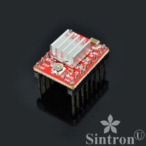[Sintron] 5 Pcs A4988 StepStick Compatible Stepper Motor Driver Module with Heat Sink for 3D Printer Controller RAMPS 1.4 Arduino Mega Pololu Shield Arduino RepRap (A4988*5) - Sintron