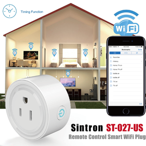 2X Sintron ST-027 US Smart Plug Socket - Works with iPhone Siri Amazon Alexa Google Home Google Assistant , no Hub required , Energy Saving A+++, compatible with Smart Phone/PC/Mac/Linux/Windows/iOS/Android - Sintron