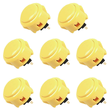 Sanwa 8 pcs OBSF-30(Yellow) OEM Arcade Push Button (Mad Catz SF4 Tournament Joystick Compatible)