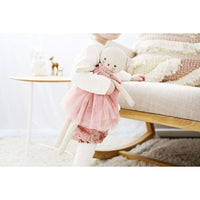Alimrose Aurelie Linen Cat Doll 48cm Blush