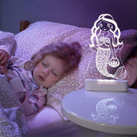 Aloka LED Sleepy Light - Mermaid - DUAL POWERED