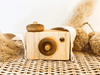 Wooden Toy Camera Natural