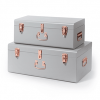 Belle and Co Storage Case Set Grey