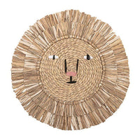 Bloomingville Water Hyacinth Lion Wall Deco