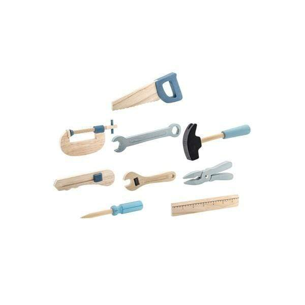 Bloomingville Wooden Toy Tool Set - 9pcs-