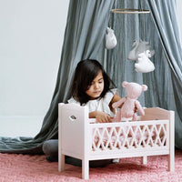 CAM CAM Harlequin Doll's Beds Pale Rose