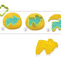 Djeco 6 Cookie Cutters And 6 Stamps Pet Animals