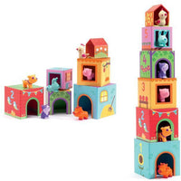 DJECO Topanifarm Blocks With Animals