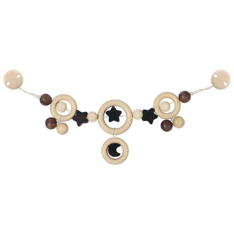 Goki Basic - Baby carriage chain moon and stars with clips