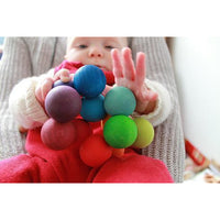 Grimm's Wooden beads grasper Multi Colours