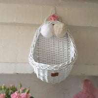 Lilu Wicker Wall Basket White