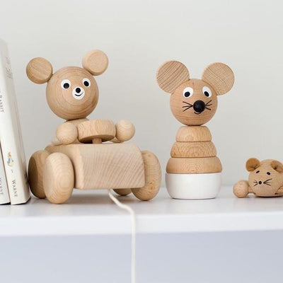 Miva Vacov Wooden Mouse Stacking Puzzle - Hobbs