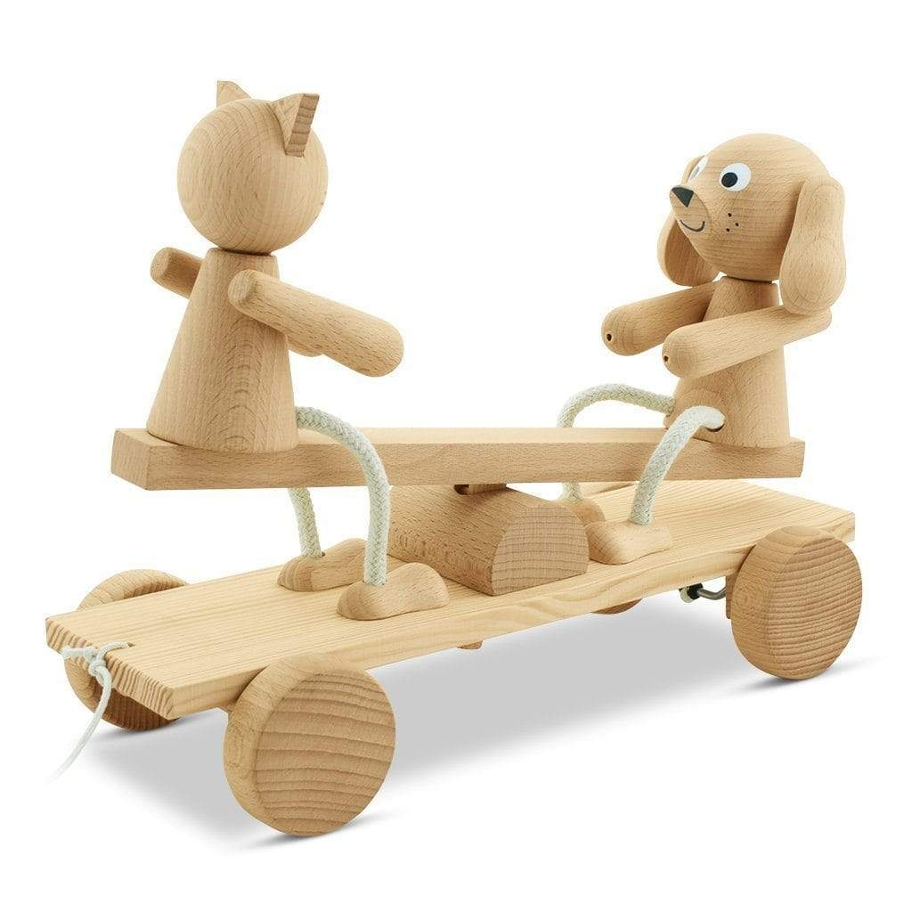 Miva Vacov Wooden See Saw Pull Along Carl Coco